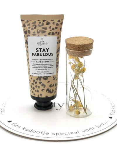 Stylin cadeau artikelen Rijnsburg een kadootje speciaal voor jou droogbloemen in een glaasje
