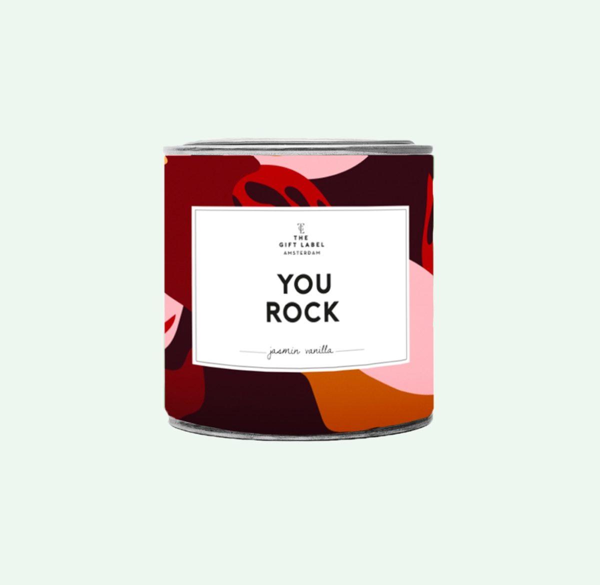 GiftLabel geurkaars in blik groot merci - Stylin cadeau artikelen Rijnsburg