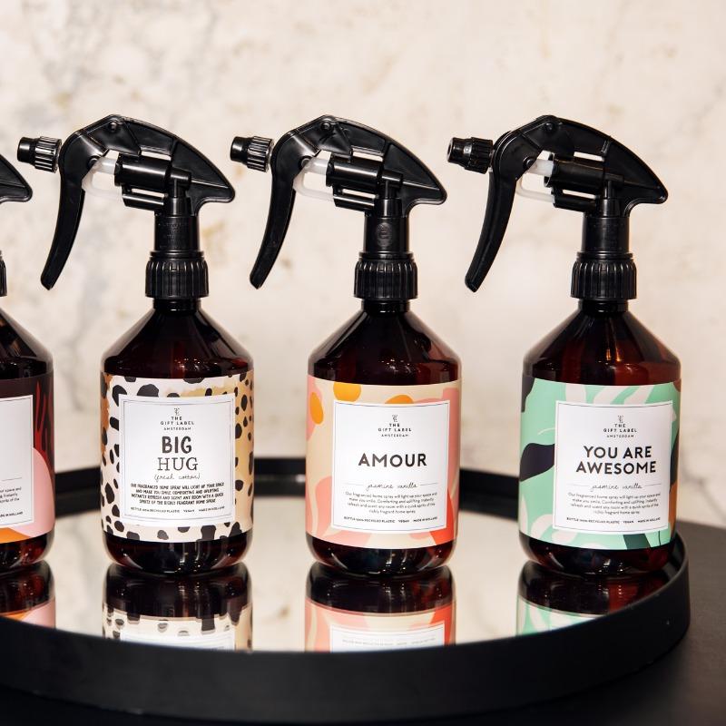 GiftLabel Homespray Big hug - Stylin cadeau artikelen Rijnsburg